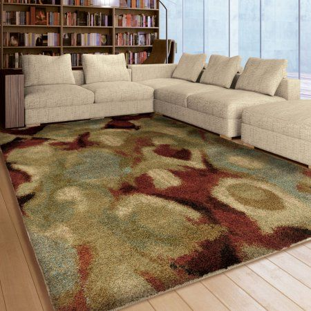 Orian Rugs Plush Stripes Dewy Scene Multi Colored Area Rug, Multicolor Ideas