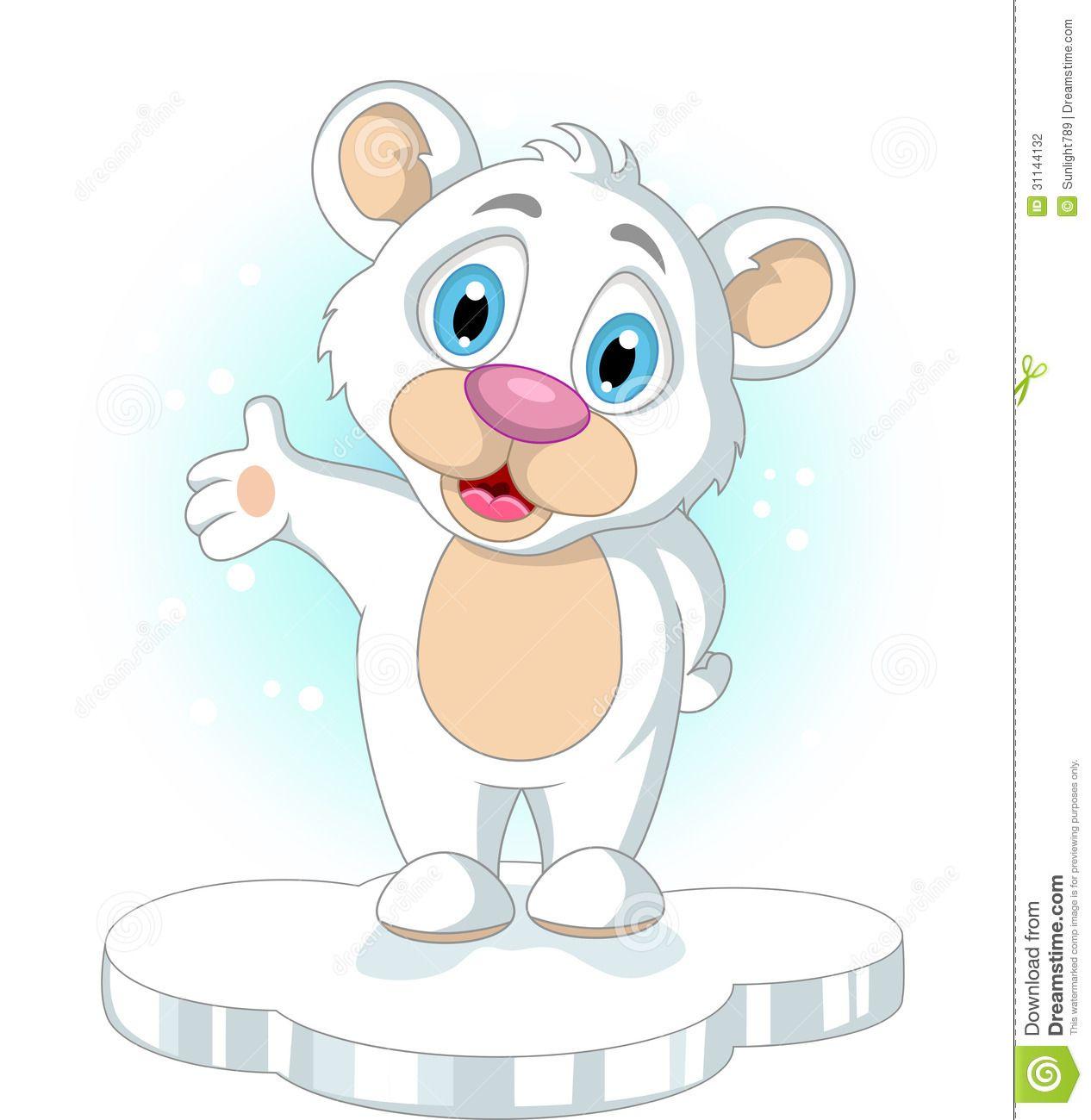 urso branco desenho