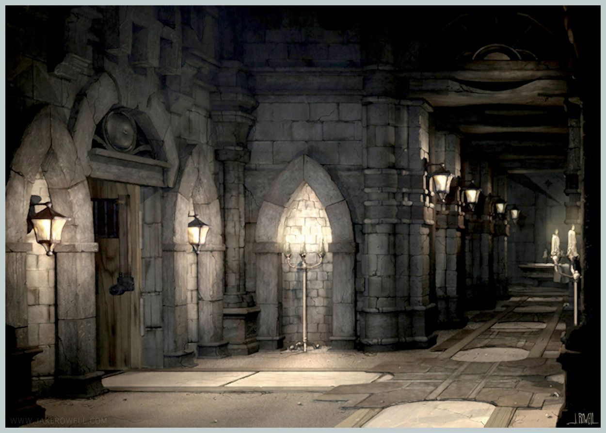 Final Fantasy IX  Castle-Inside Art  Jake L Rowell - Artist  Dark  castle Fantasy castle Castle
