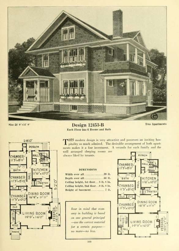 Antique homes floor plans for Progressive farmer house plans