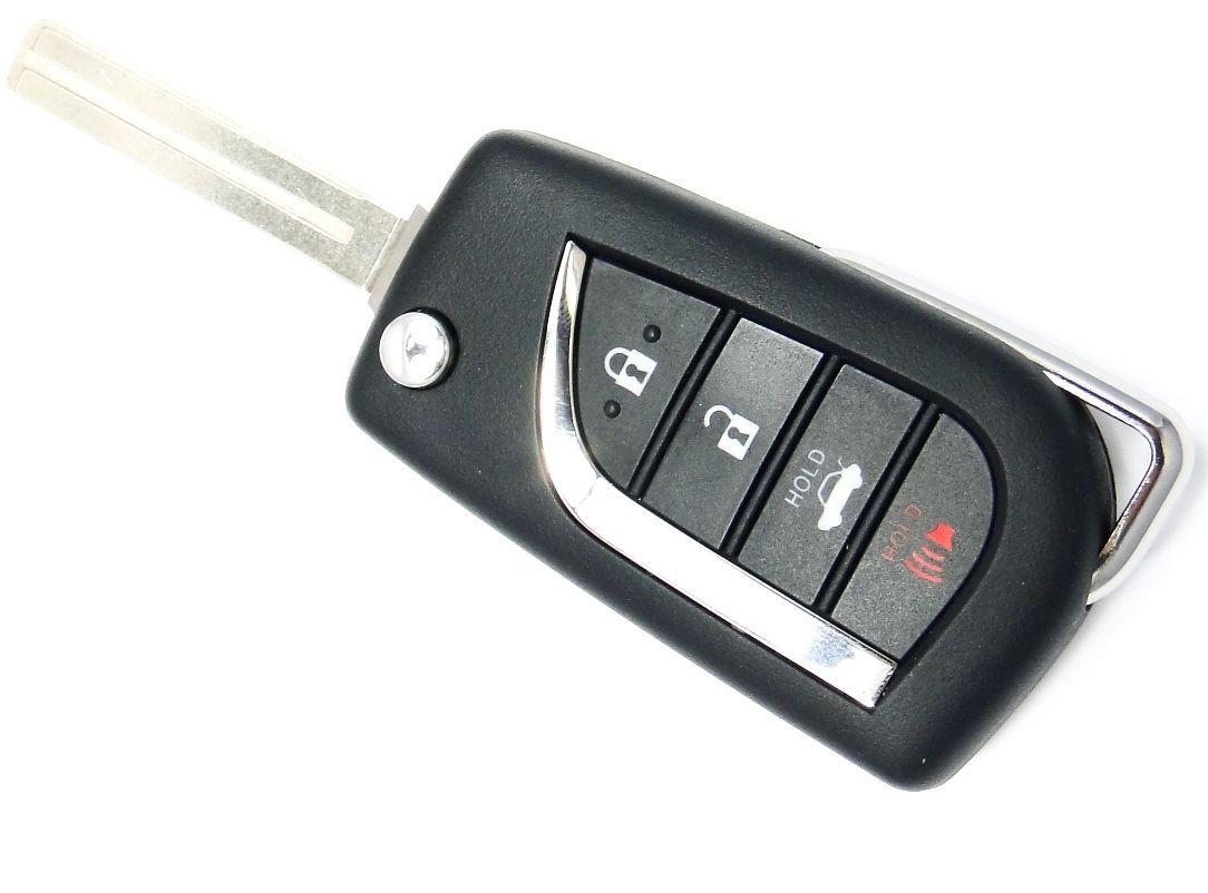 New Toyota Flip Key Chaveiro