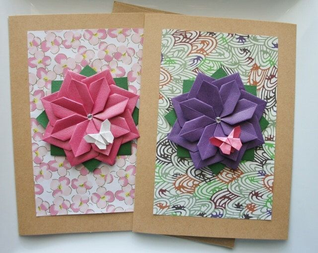 Handmade spring cardt of 2 cardsthers day cardrthday card handmade spring cardt of 2 cardsthers day cardrthday cardeeting cardsper flowerorigami cardsorigami springorigami flower bookmarktalkfo Image collections
