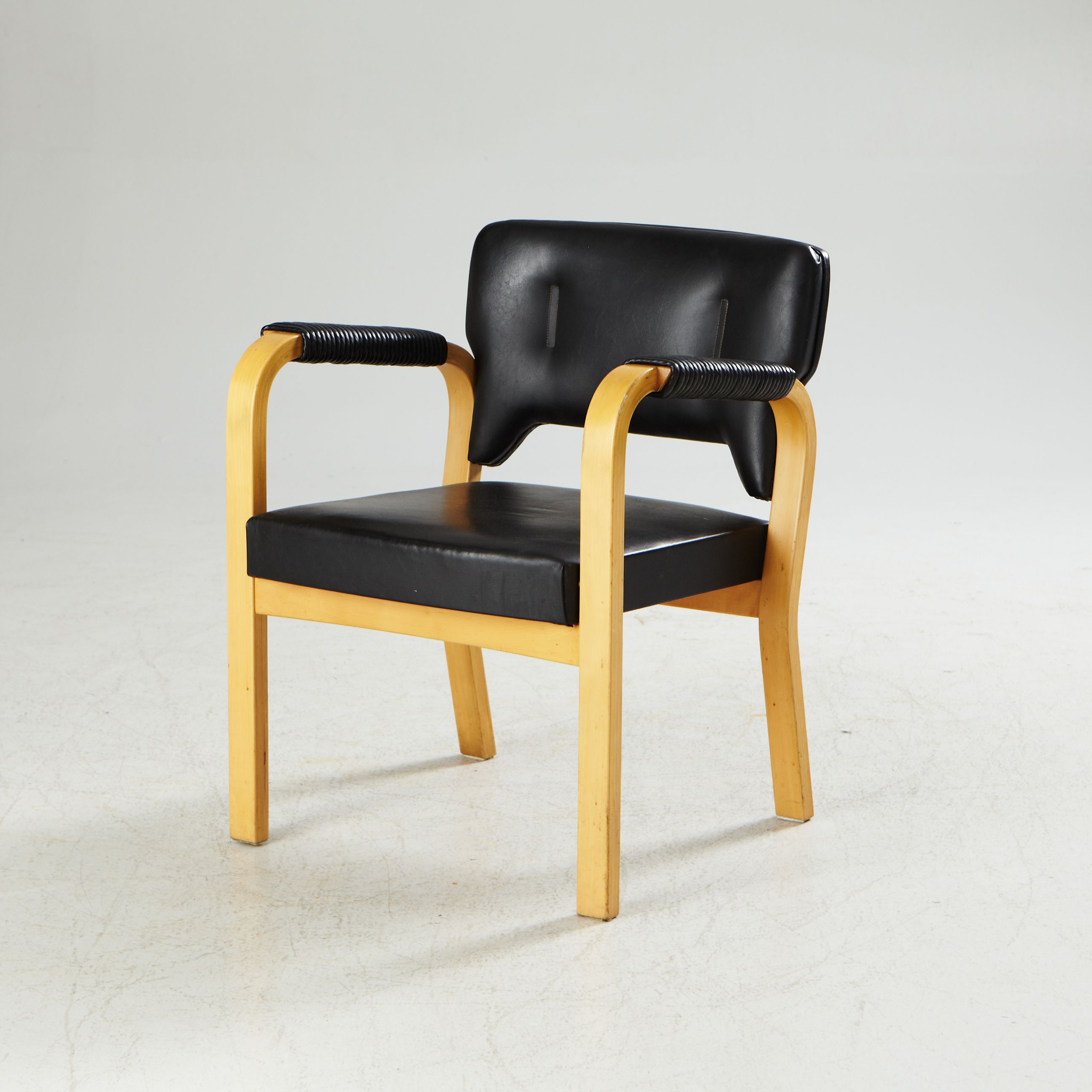 Alvar Aalto #46 Birch And Leather Chair For Artek, 1947
