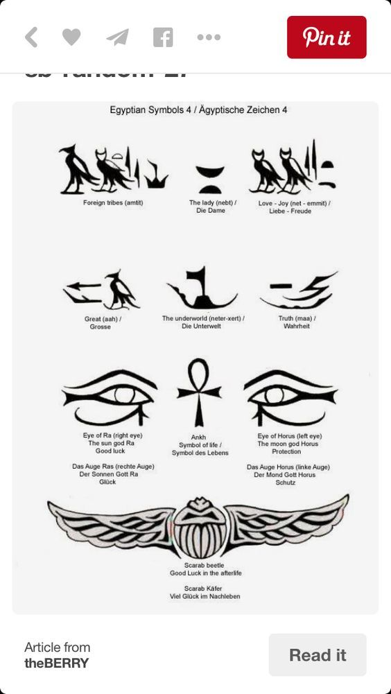 Egyptian Meanings Egyptian Symbols And More Egyptian Tattoo Tattoos