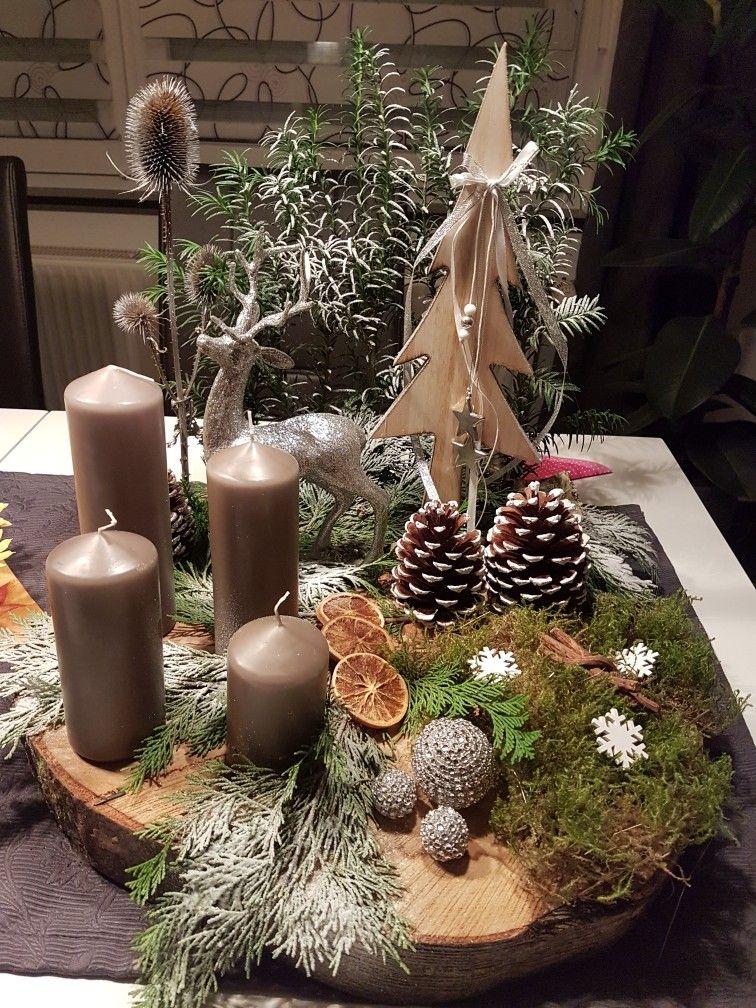 Adventsgesteck Kerst Pinterest Navidad Centro Y