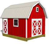 12x16 Gambrel Shed Plans front