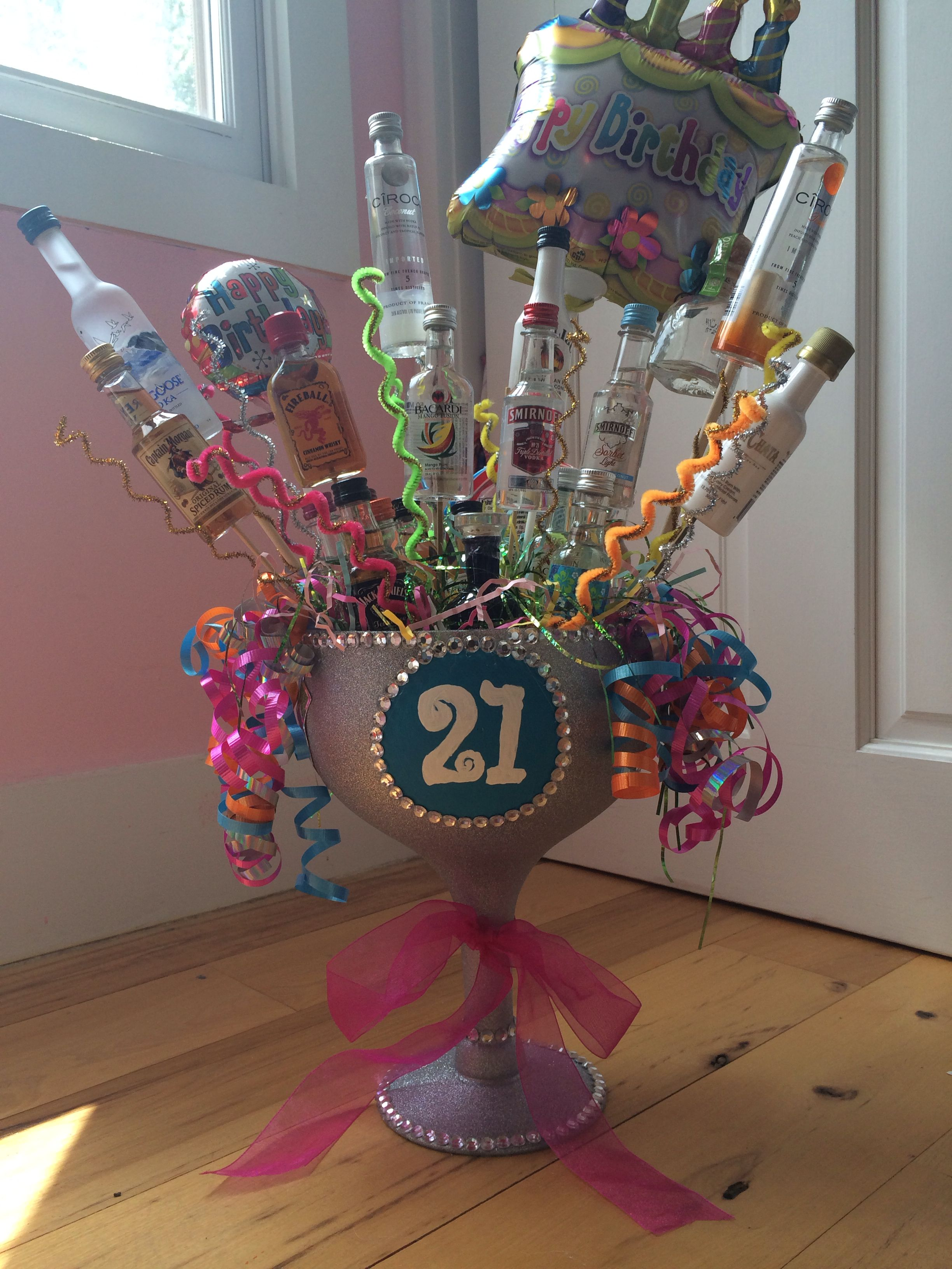Vicky S 21st Birthday Alcohol Bouquet Crafts I Made