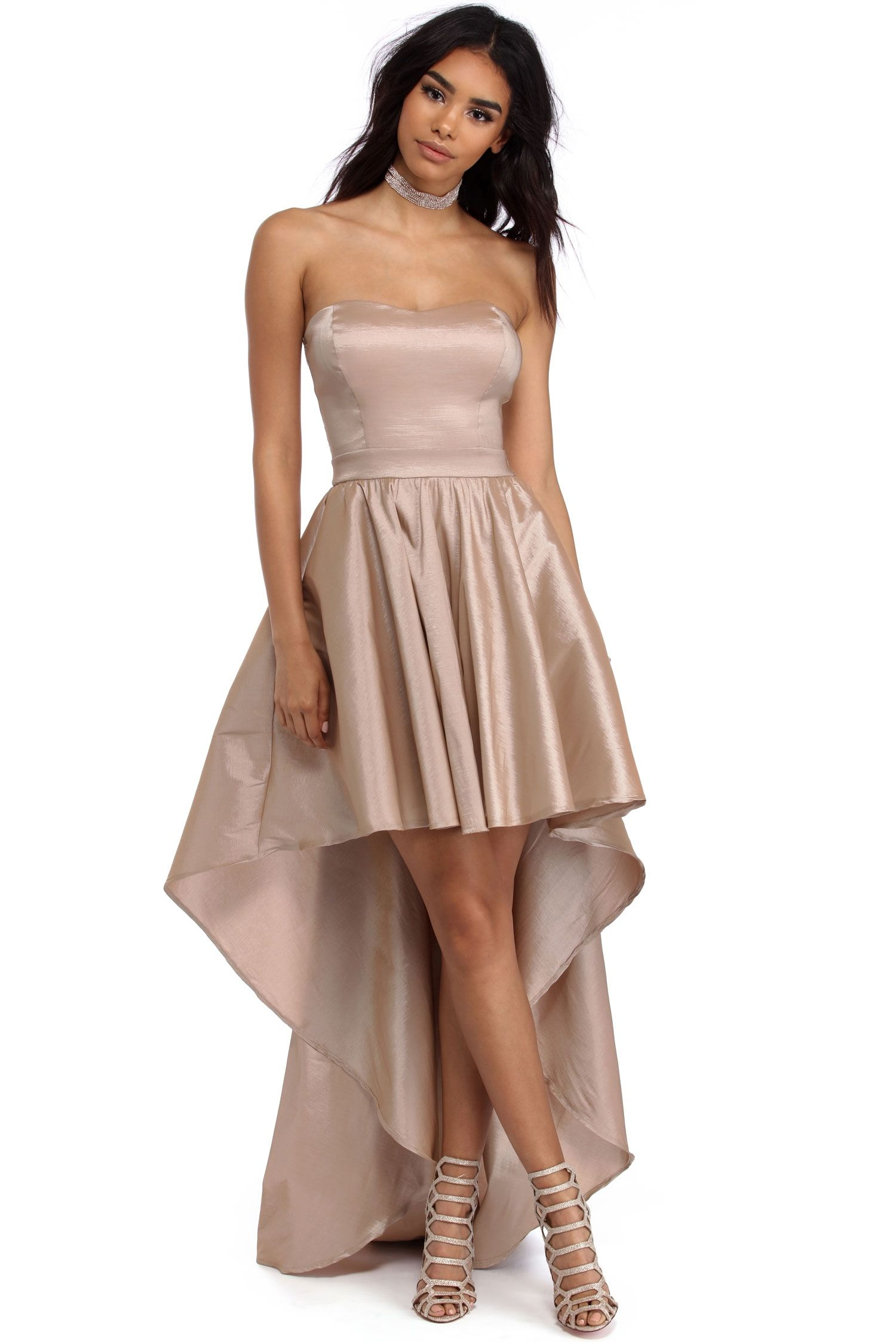 Annie taupe bold drama dress taupe bald hairstyles and prom