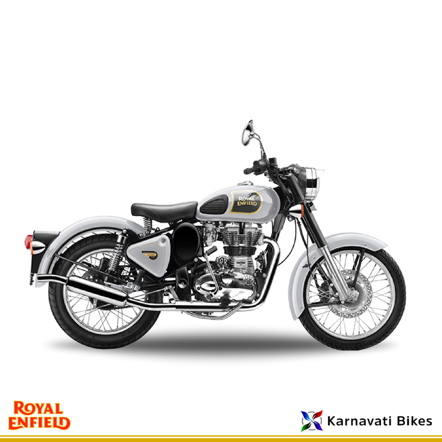 The Royalenfield Classic 350 Has A Hint Of Premium Quotient To It Which Makes It Better Looking And Comfortable Ahmedabad Royal Enfield Bike Enfield Bike