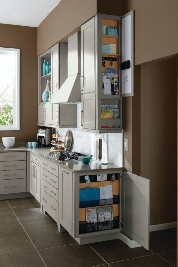 Never Miss A Beat With This Wall And Base Cabinet Message Centers By  Kemper. This