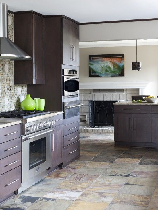 Kitchen Slate Tile Design, Pictures, Remodel, Decor and Ideas - page ...