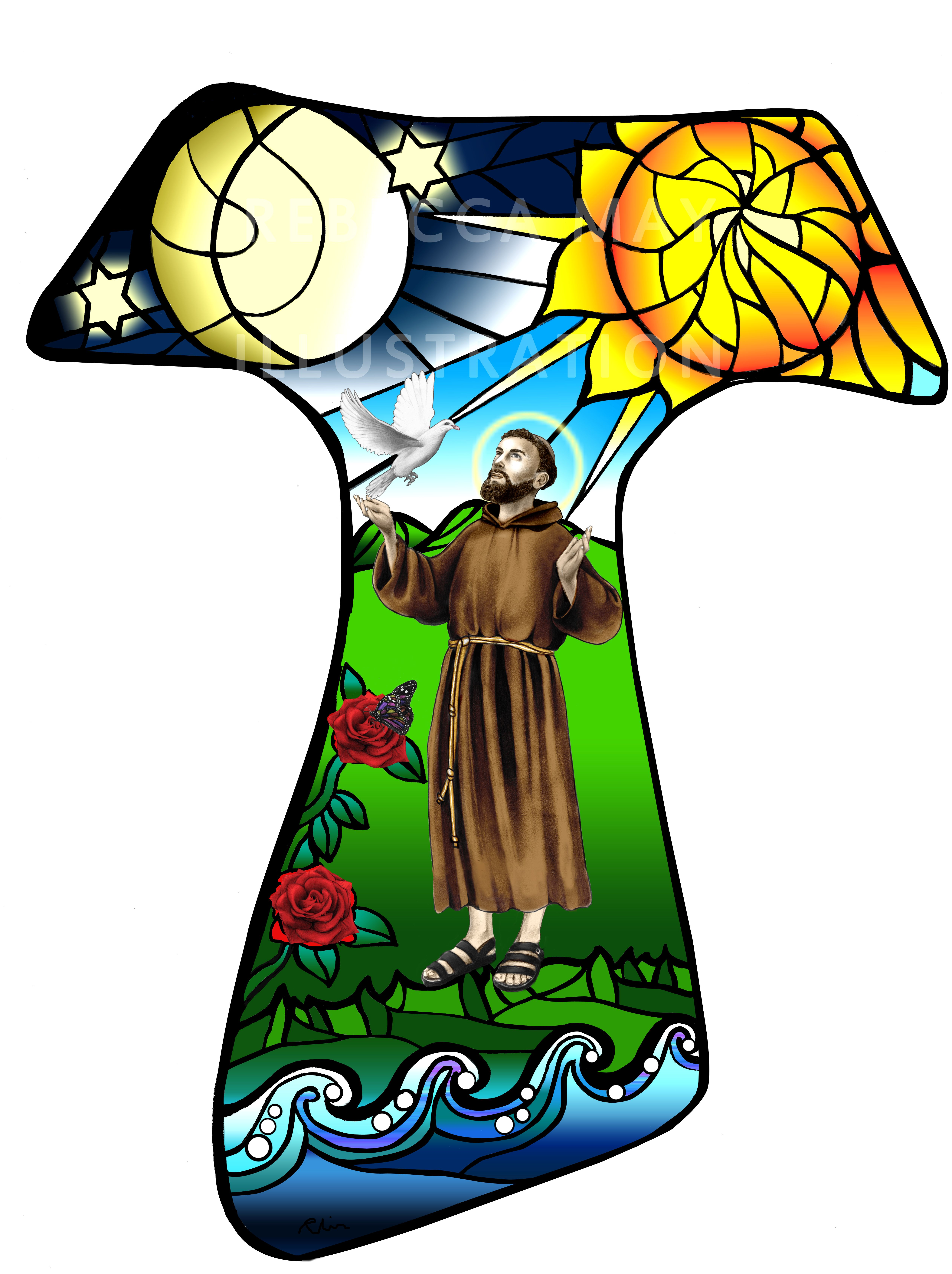 Tau Design Commissioned For A Franciscan Society Sao Francisco
