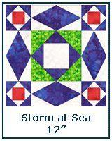 Storm at Sea quilt block