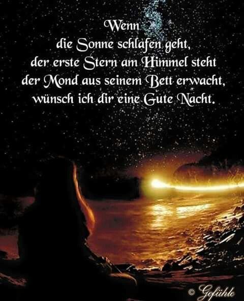 Süßer gute nacht spruch   Gute nacht, Gute nacht zitate