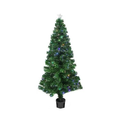 3' Prelit Led Color Changing Fiber Optic Christmas Tree With Star