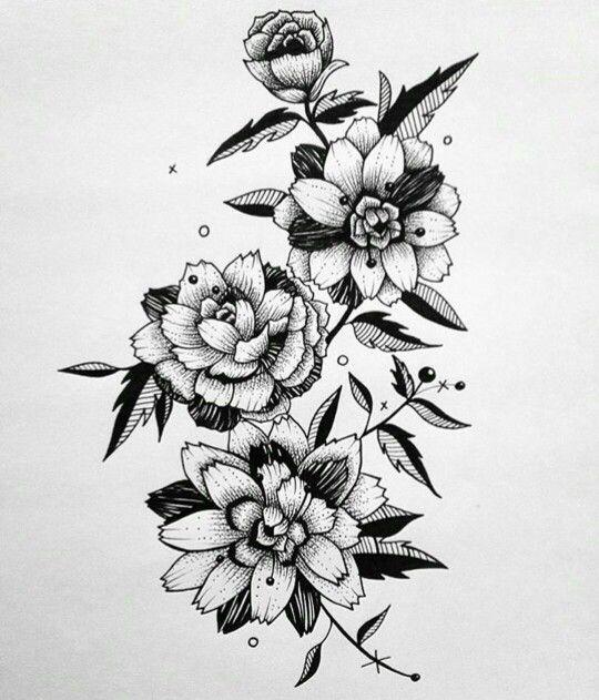 Pin By Iwan Iwan On Bunga Black And White Flower Tattoo Flower Tattoo Drawings Black White Tattoos