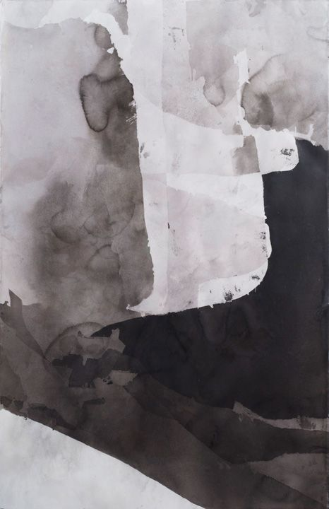 Untitled Nº704  2014 ink & beeswax on paper 26X40in/66X102cm