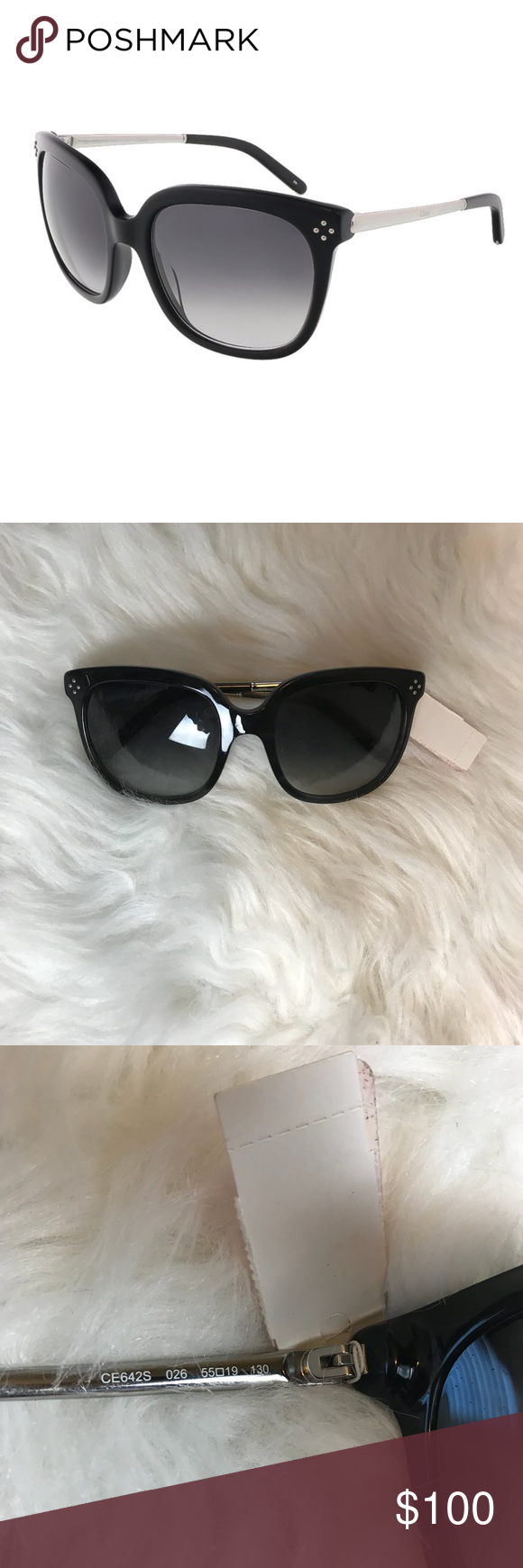 f5281216047b Chloe CE642S Black Gradient Sunglasses NWT New with tags black Chloe  sunglasses. Gradient lenses. Silver accents. No scratches