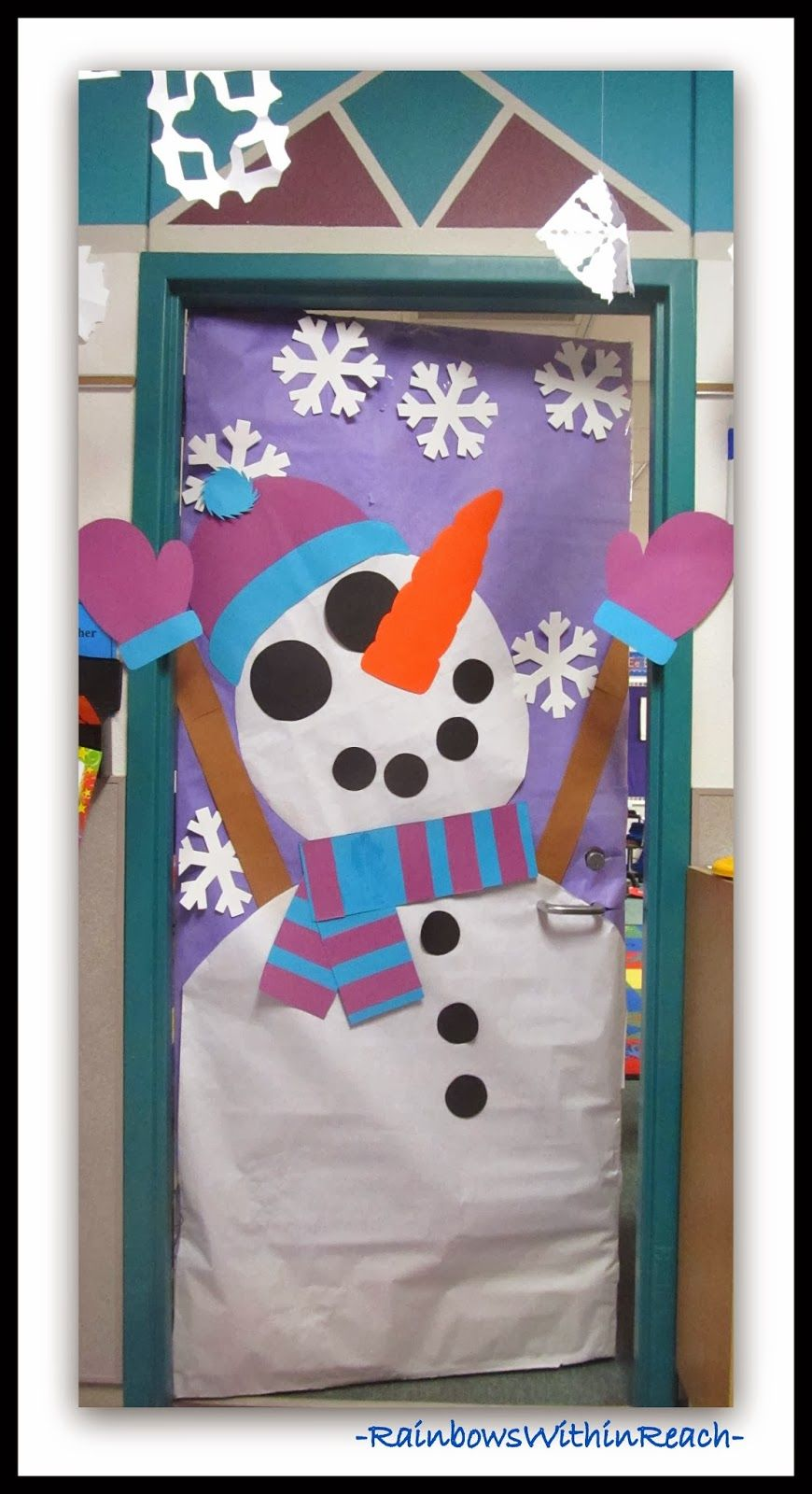 Winter Themed Decorated Classroom Doors Bulletin Boards