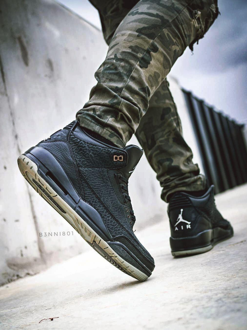 jordan 3 black flip