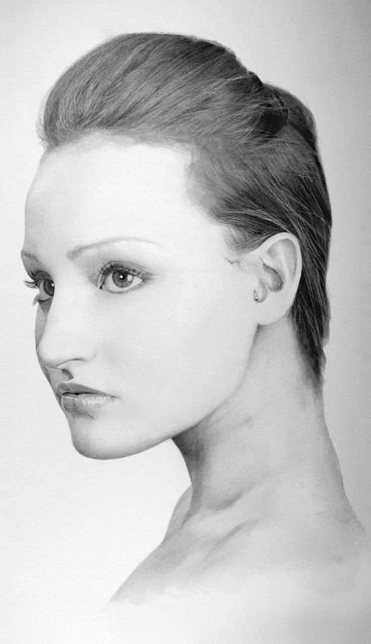 It's just a photo of Selective Woman's Face Drawing