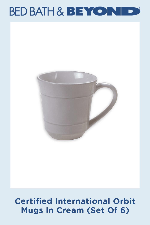 Certified International Orbit Mugs In Cream (Set Of 6)