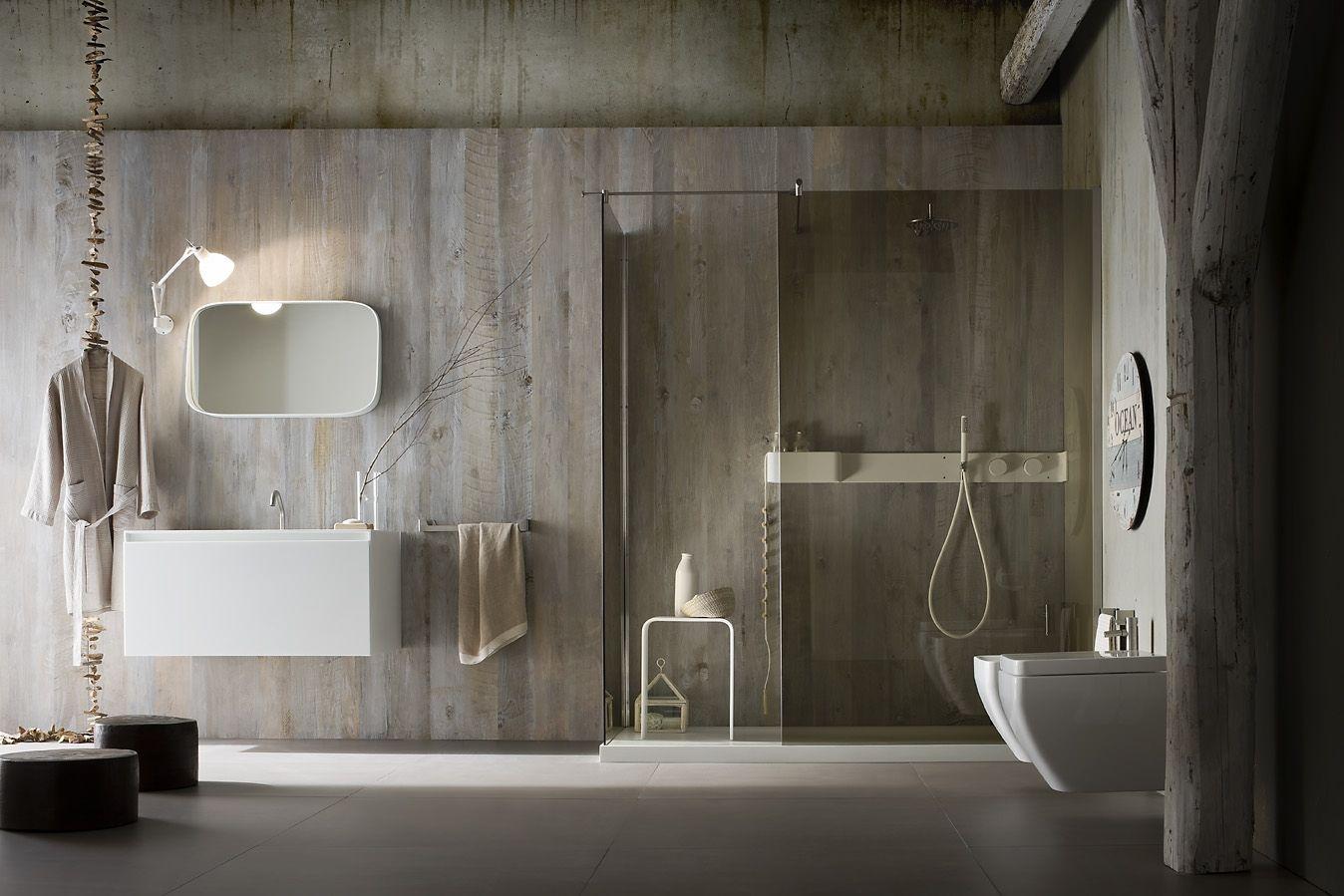Rexa Ergo   Glass shower wall, Corian shower walls ...