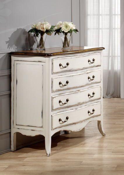El encanto de lo desvencijado en 2019 muebles de madera - Pintar madera blanco ...