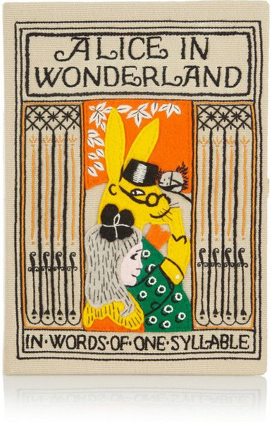 OLYMPIA LE-TAN  Multicolor Alice In Wonderland Embroidered Clutch