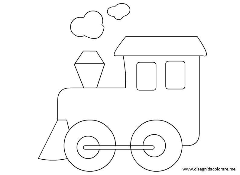Treno Locomotiva Omalovánky A šablony