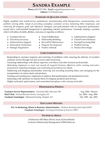 5 Star Resume Examples | English | Customer service resume, Resume ...