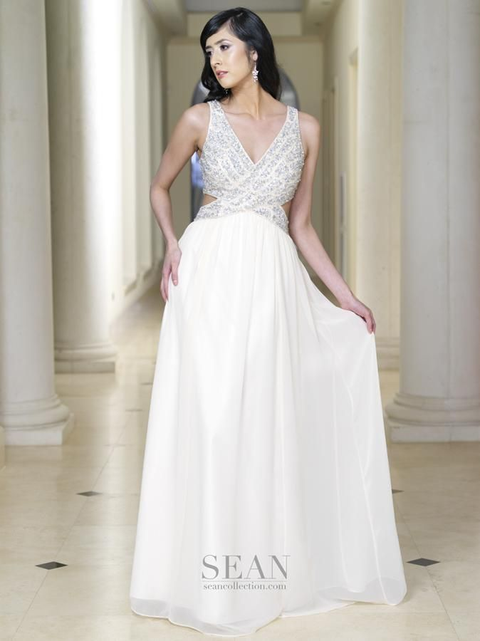 Sean Collection 50699 Champage Prom Dress | SEAN COLLECTION 2015 ...
