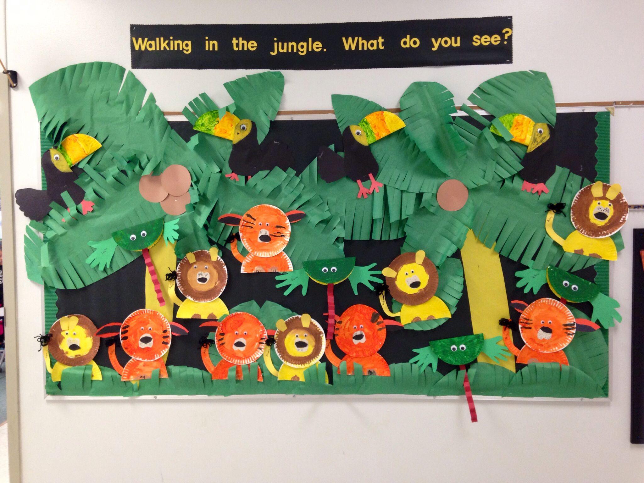 Love our jungle bulletin board  Pre-K JUNGLE TO DESERT  Pinterest ...