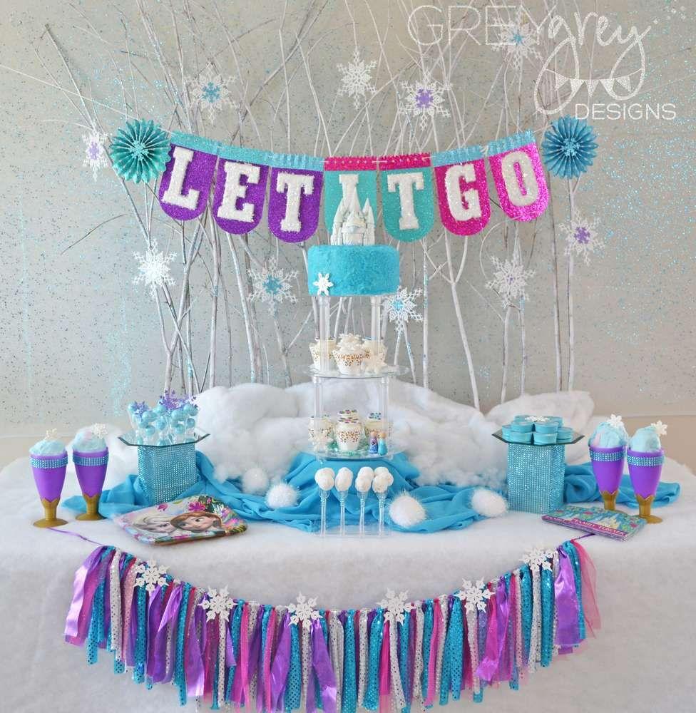Frozen birthday party decorations ideas  Birthday Party Ideas  Frozen party Birthday party ideas and Birthdays