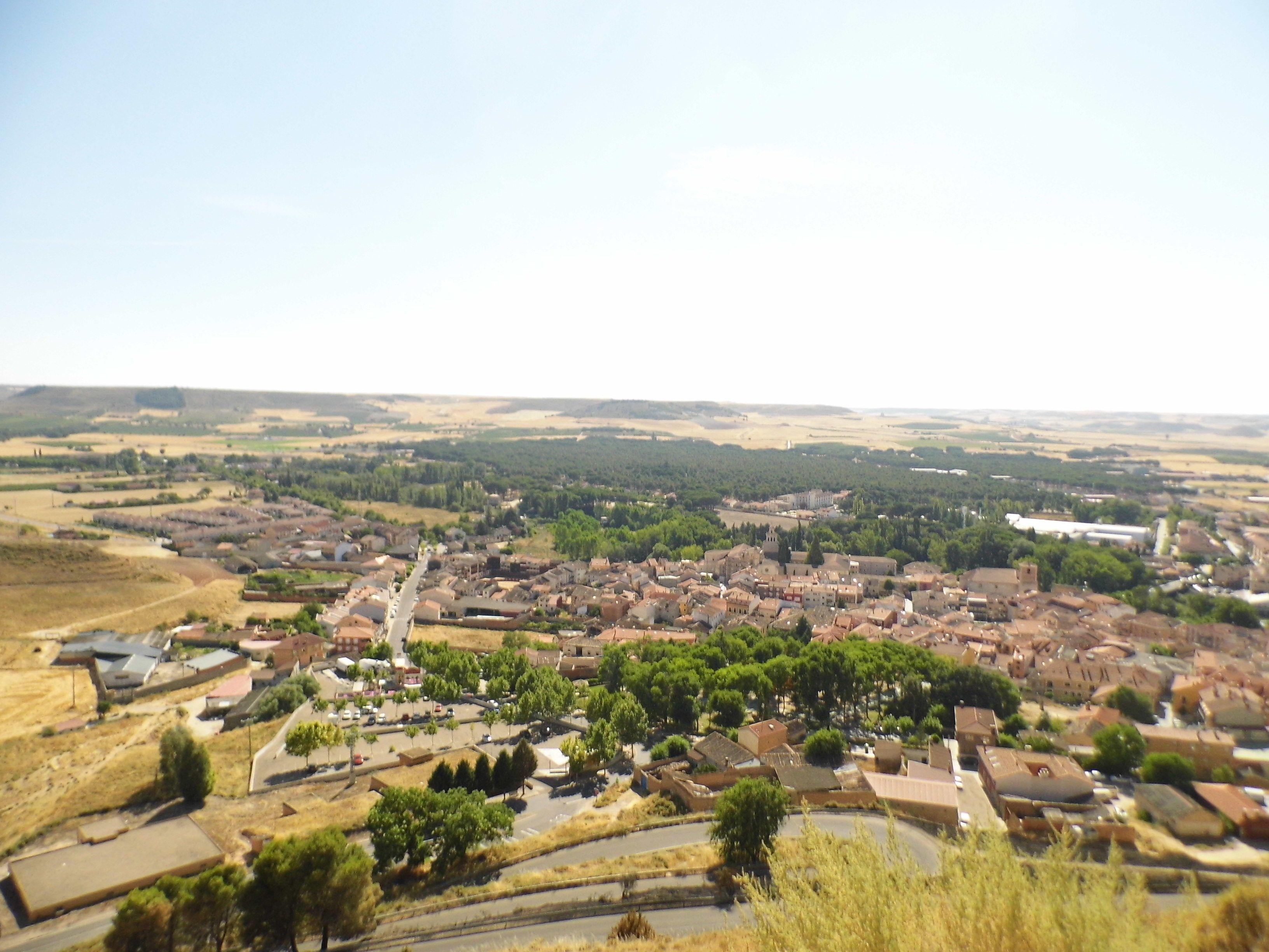 Vista desde el castillo de Peñafiel ( Valladolid ).
