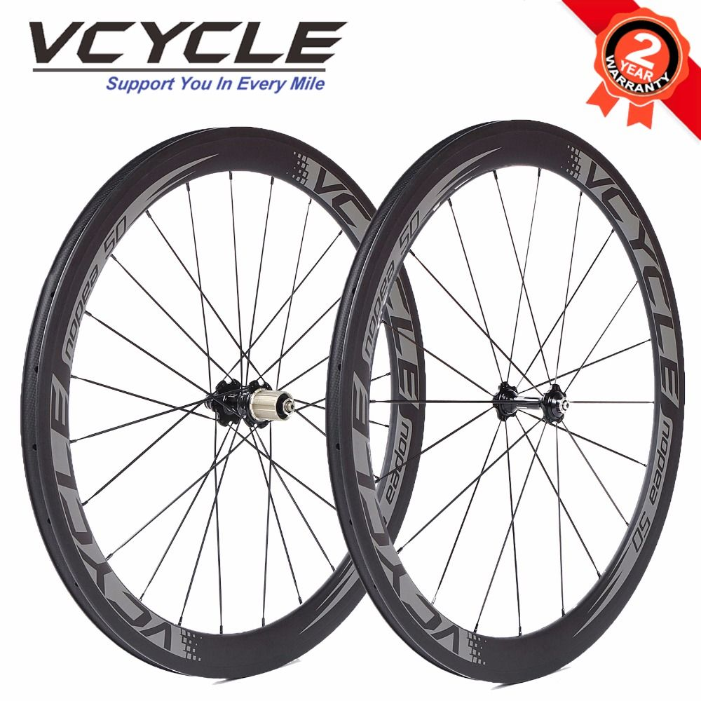 Free Shipping Vcycle 50mm Clincher Carbon Fiber Wheels Ud Matte