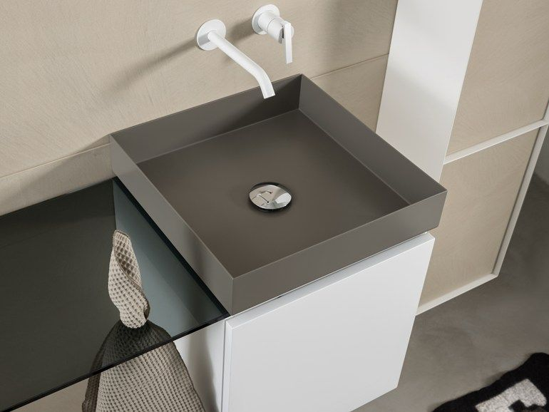 T lm lavabo en acier contemporary style countertop and