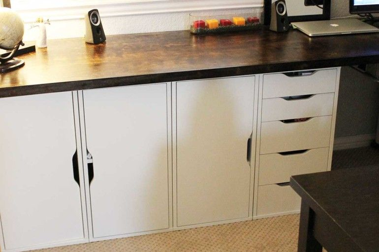 ikea credenza office furniture. Ikea Hack That Even An Idiot Can Do: Home Office Credenza | Living Curiously Furniture C