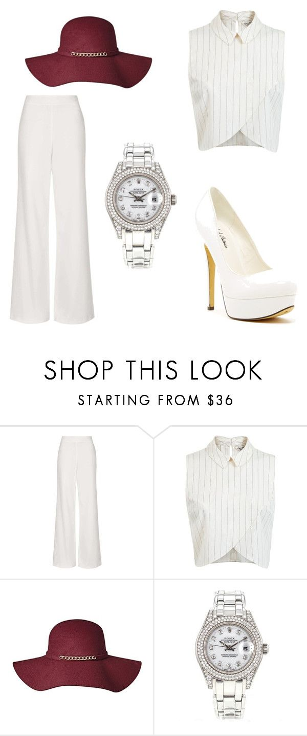 """""""Shopping spree"""" by imanharmione ❤ liked on Polyvore featuring Topshop, Miss Selfridge, Michael Antonio, Rolex, women's clothing, women, female, woman, misses and juniors"""