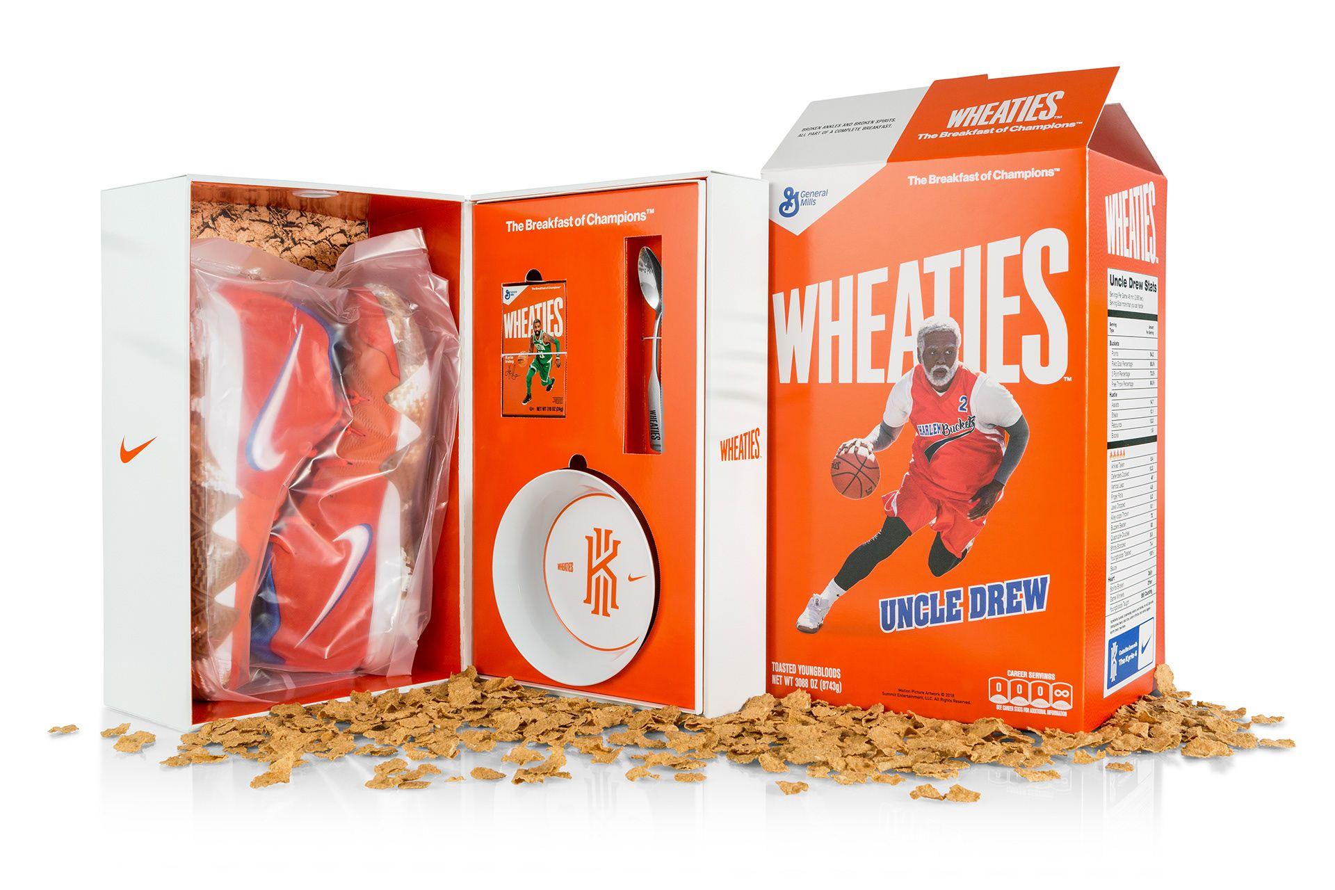 buy popular b39dd 9adc8 Kyrie 4 x Wheaties Kit | Design - Packaging in 2019 ...