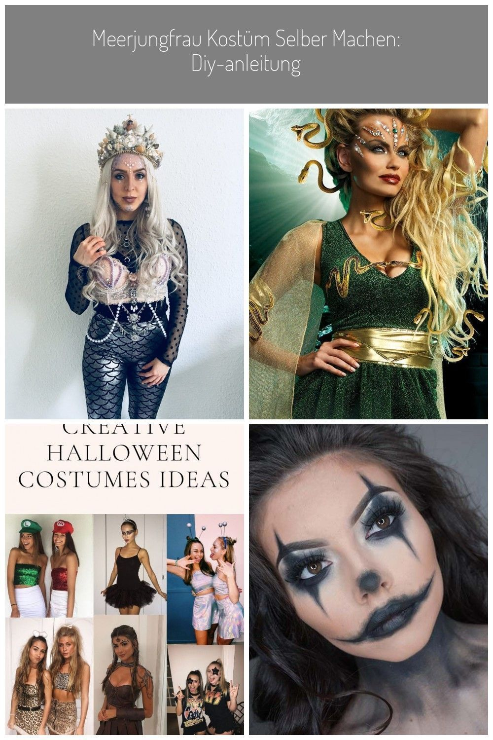 Mermaid costume make yourself Fr Mardi Gras Carnival Discover ideas Accessories Make up Videos for