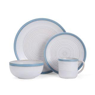 Pfaltzgraff Carmen White/Blue Stoneware 16-piece Dinnerware Set (Service for 4) | Overstock.com Shopping - The Best Deals on Casual Dinnerware | Pinterest ...  sc 1 st  Pinterest & Pfaltzgraff Carmen White/Blue Stoneware 16-piece Dinnerware Set ...