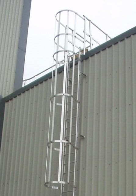 Fixed Caged Ladders Are Easily Installed And Can Resolve A