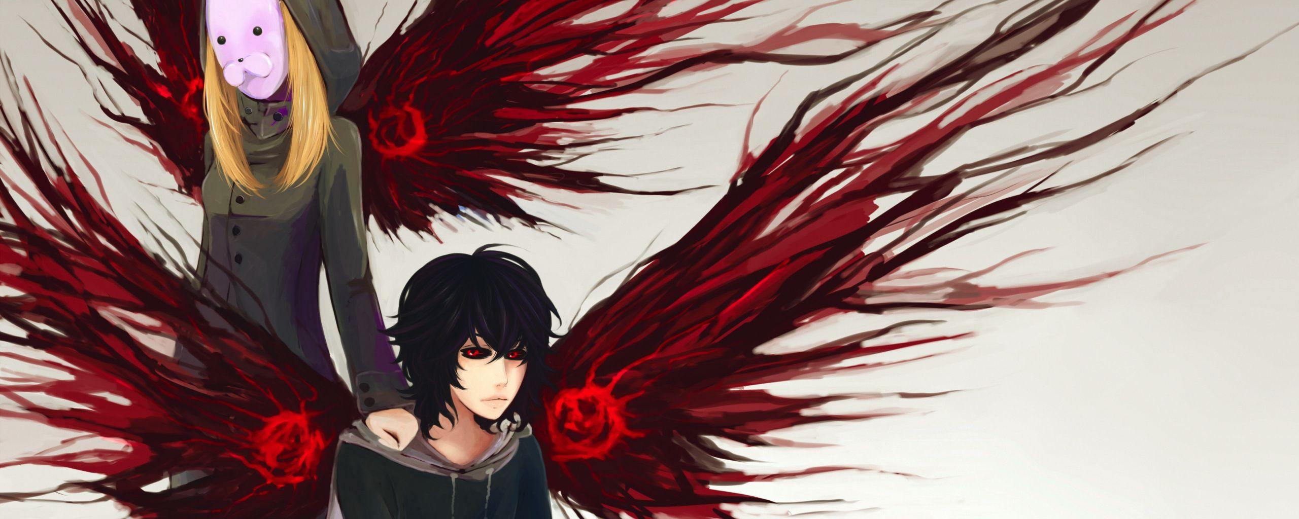 2560x1024 Wallpaper Anime Artwork Ayato Kirishima Touka