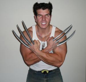 Original homemade wolverine costume pinterest wolverine costume wolverine just make sure your hair is long enough and build the claws solutioingenieria Images