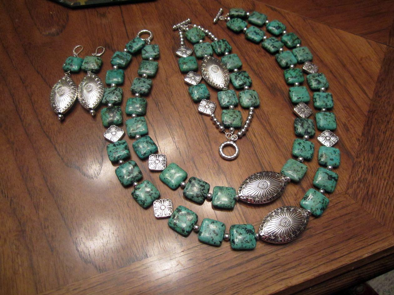 Turquois set custom made for Joyce Brittain!