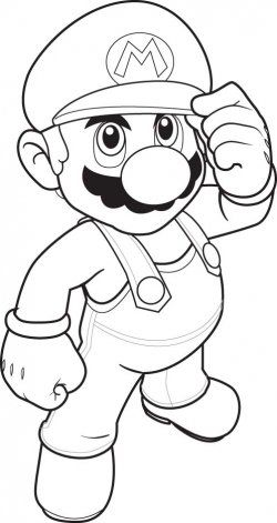 Mario Easter Coloring Pages Portraits