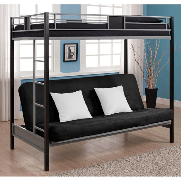 ameriwood silver screen bunk bed twin over futon u2014buy now  ameriwood silver screen bunk bed twin over futon u2014buy now    teen      rh   pinterest