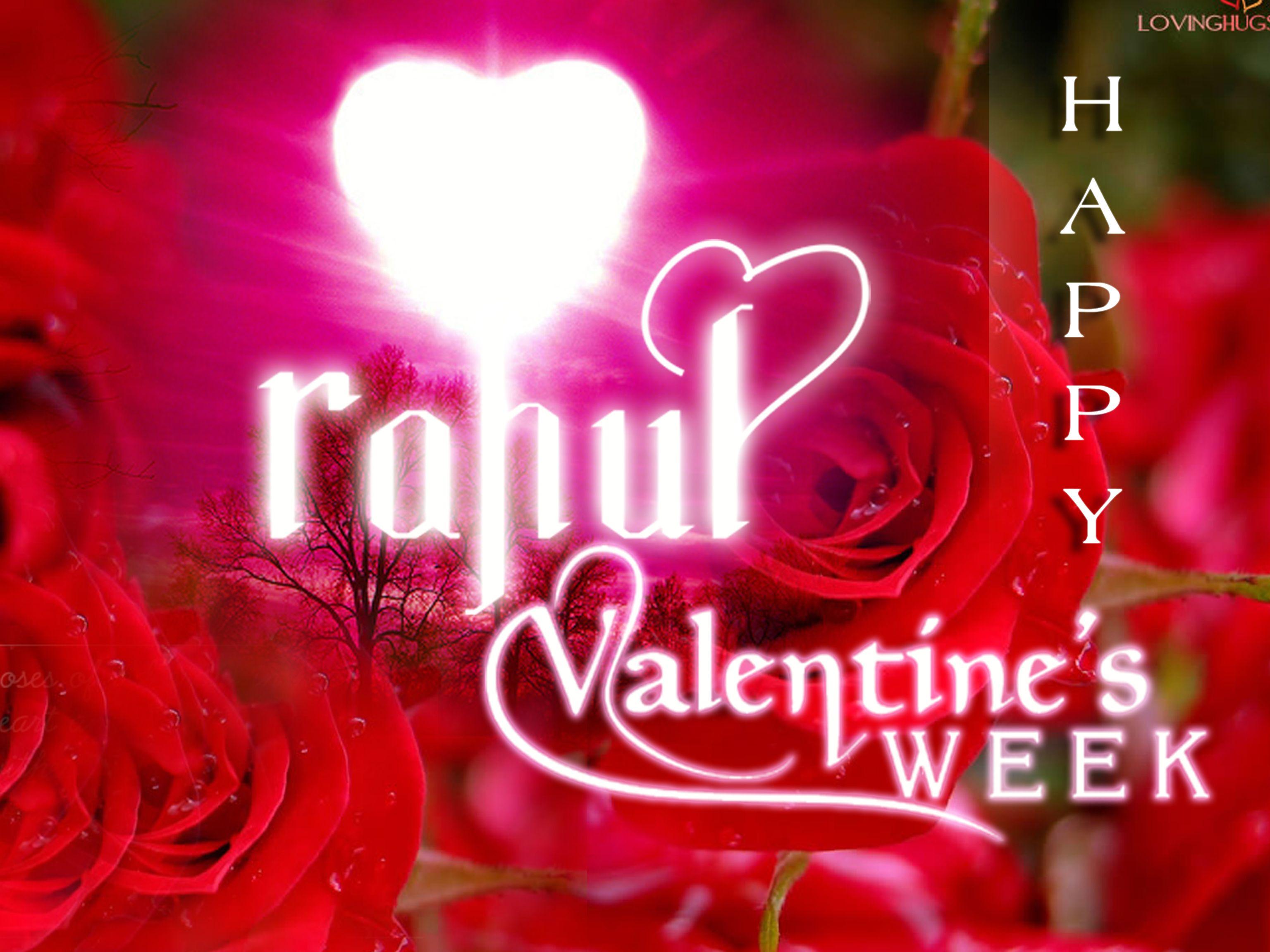 Creative Name Rahul Happy Valentines Week My Some Own Created