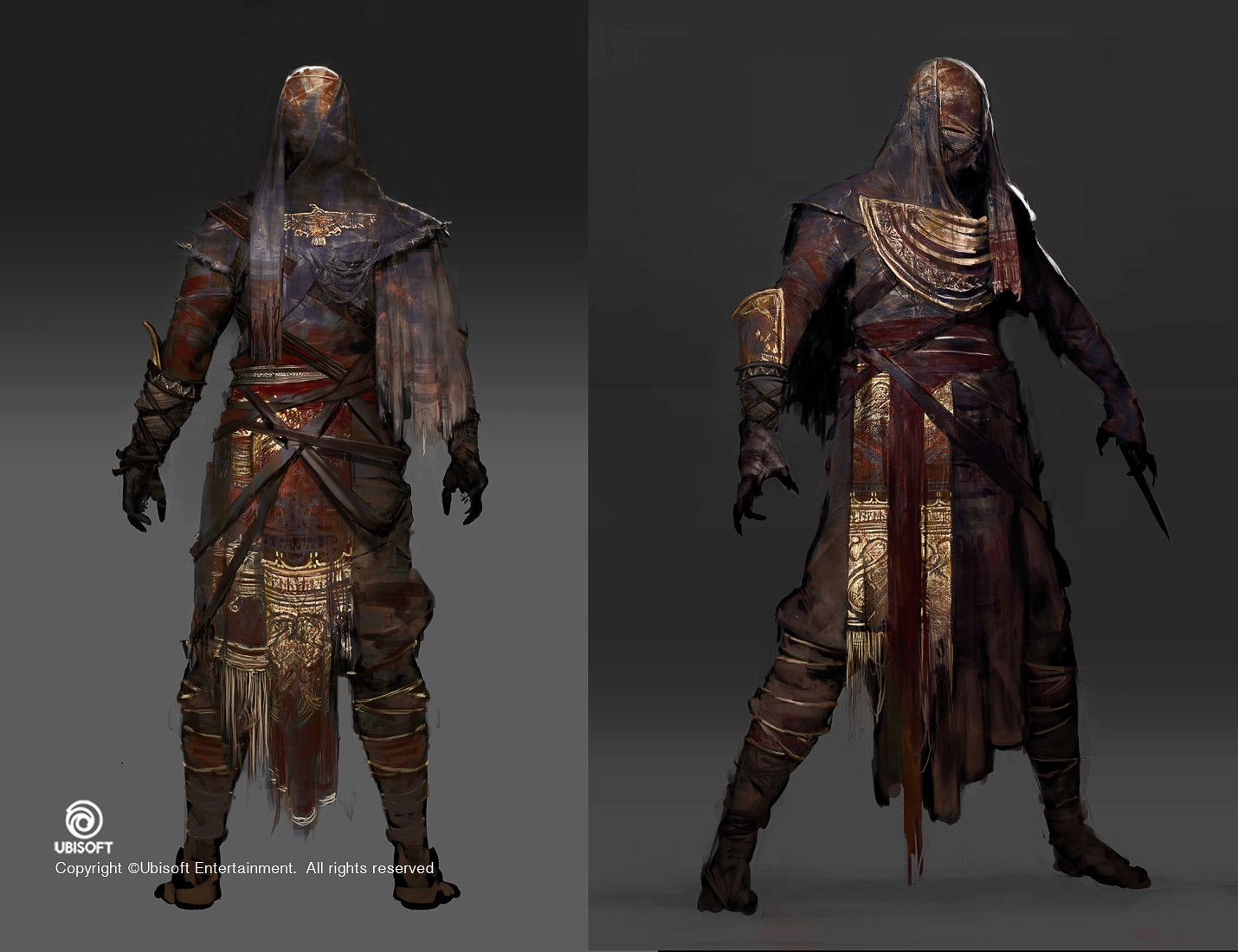 Assassin S Creed Origins Mummy Outfit Concept Jeff Simpson On